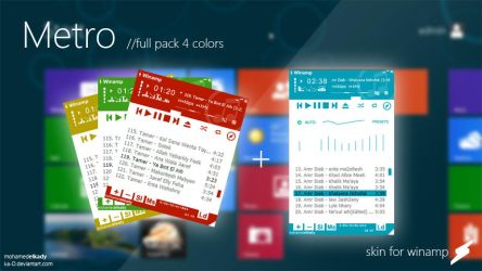 Metro skins full pack for winamp by ka-D