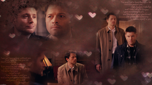 Though Its Unspoken... (Destiel Wallpaper 9x22) by mistofstars