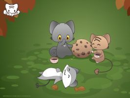 Friends With Cookies Wallpaper by lafhaha