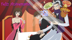 happy aniversary lady taker and tomy by LadyTakerFandub