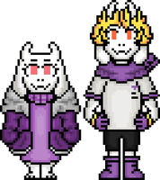 Altertale Toriel and Asgore by flambeworm370