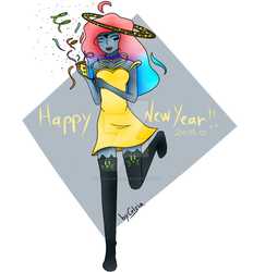 [ OC ] Happy new year ! by CelsiaLunatik
