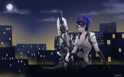 Widowmaker on the rooftops by silwe