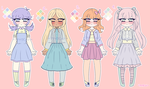 [OPEN] Pastel Girls Adopt Batch [POINTS/CASH) by Pffycat