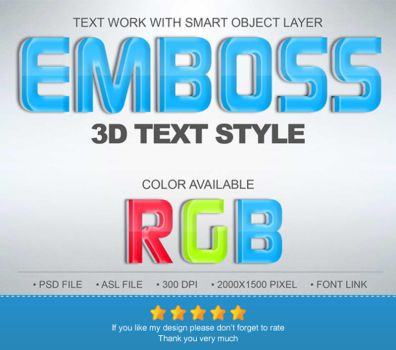 Emboss 3D Text Effect by Chankreative