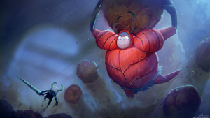 Hollow Knight vs Dung Defender by Wuggynaut