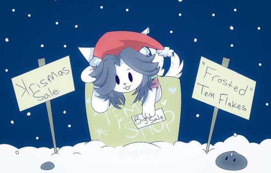 Temmie's christmas sale by Bomkaiplow