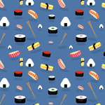 Sushi Pattern by michellecreatesstuff