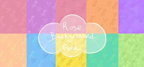 Cute Rose Background Pack by OriginStory