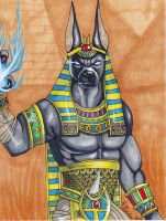Anubis The God of Mummification by thearctisticfox