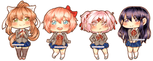 DDLC - Chibi Edition (Not Just Monika) by anniabstract