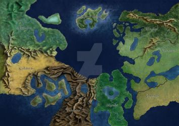 My New World Map by DameBadgeress