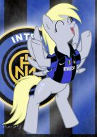 Derpy Hooves love the Inter by Maxmilian1983