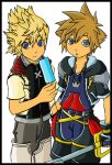Woah... Sora and Roxas by l3xxybaby