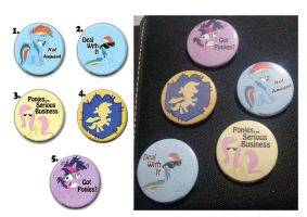 My Little Pony FiM Buttons by cosplay-kitty