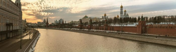 Panorama of the Moscow Kremlin March 25, 2018 by fly10