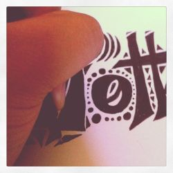 Still drawing typography art. by Lilithia