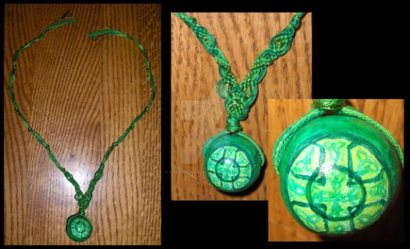 Green Celtic Cross Necklace by ChimeraDreams