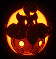 Pumpkaboo on a Pumpkin