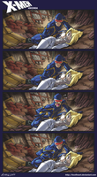 X-Men: Corel Color Test by FoxxFireArt