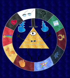 Warm Up - Bill Cipher Zodiac Wheel by Cians-Sacred-Lair