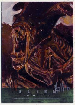 alien anthology oil sketch card 7 by charles-hall