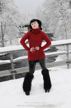 Very red sweater 4 by FuchsiaG