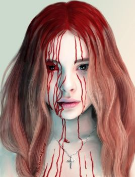 Karry Blood - Chloe Moretz by Comablack-white