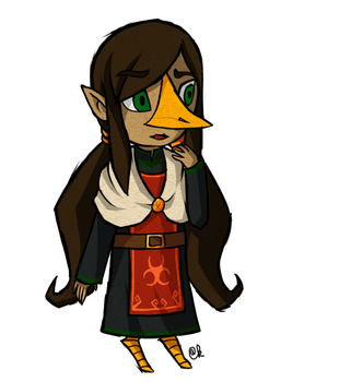 Young female rito adopt (open) by Amandinde