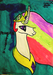 Princess Celestia Painitn (2013) by TheDefiantWerewolf