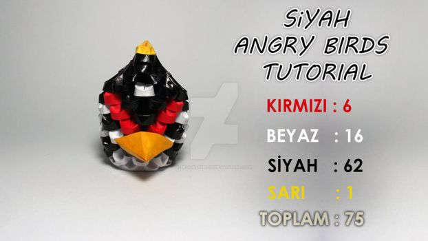 3D Origami Black Angry Birds Tutorial Video by designermetin