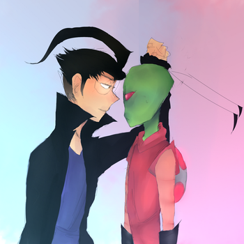 Admit that you're an alien, Zim by 0animexLive0