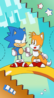 Sonic and Tails by SupaSmashSketcher