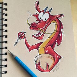 Mushu Toned Paper Test by Artistlizard101