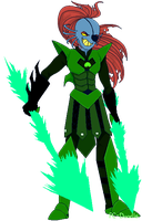 Monofell!Undyne by PC-Doodle