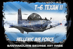 Haf T-6 Caricature by SANTAMOURIS1978