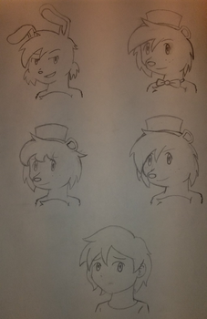 Five Nights at Freddy's 4 Concept Sketch by PKMNTrainerSpriterC