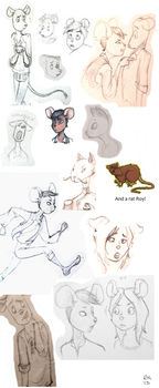 Mouse-ish Sketchdump by TheRandomAnchovy