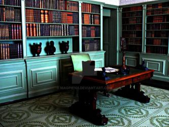 Untouched Library Of Manor A by Magpie101