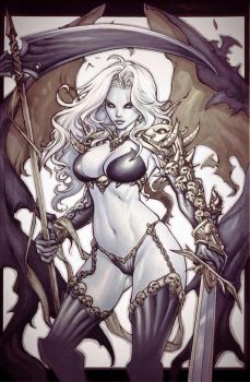 Lady Death traditional artwork by pant