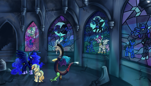 COMM: Castle at night by MadBlackie