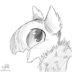 Sun Lover - Headshot Sketch Commissoin by JB-Pawstep