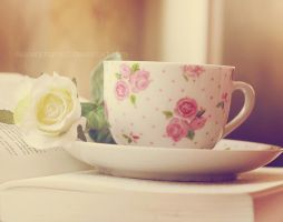 Books and tea by EliseEnchanted