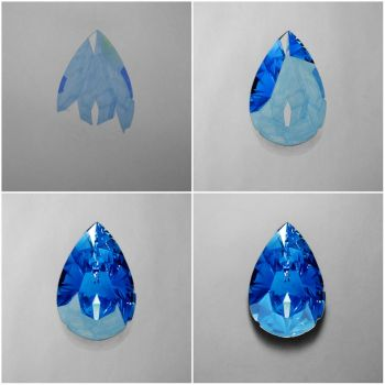 Sapphire Gemstone - Drawing Phases by Anubhavg