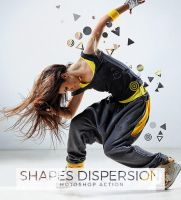 Shapes Dispersion Photoshop Action by hemalaya
