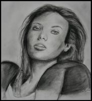 woman in charcoal by Matylly