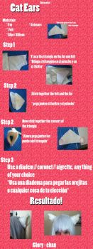 Cat / Inuyasha tutorial Ears by Glory-chan