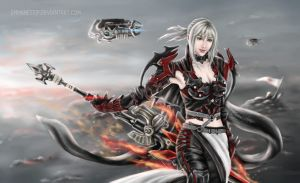 Aranea Highwind  from Final Fantasy XV by EmmaNettip
