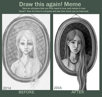 Draw this again - Girl in frame 3 by Cactical
