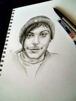 New sketchbook . Frank Iero by ChocoWay